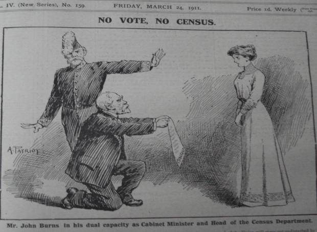 John Burns, the suffragettes and the census boycott