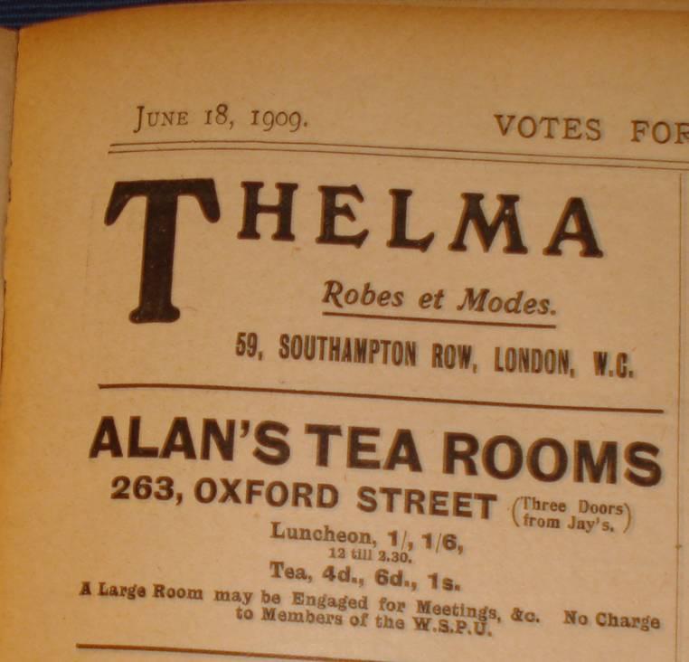 Tea Rooms Suffragette