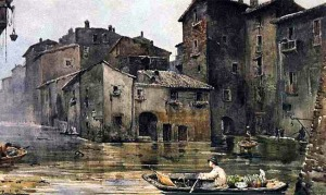 Roesler: Tiber Flooded, c 1880