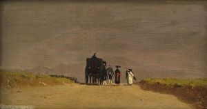 Jervis McEntee, Journey's Pause in the Roman Campagna
