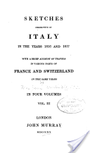Waldie: Sketches Descriptive of Italy, 1820