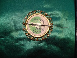 Reverse of EWD brooch