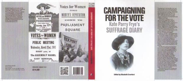 'Campaigning for the Vote' - Front and back cover of wrappers