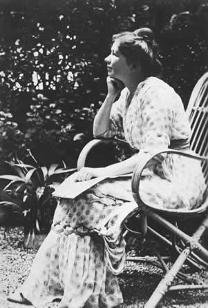 Christabel Pankhurst relaxing in France