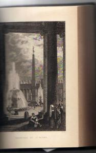 Colonnade of St PEter's from 'Rome in the Nineteenth Century'