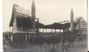 The Nevill Pavilion, Tunbridge Wells on the morning of 11 April 1913