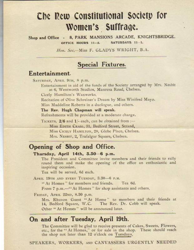 Notice of the opening of the NCS office