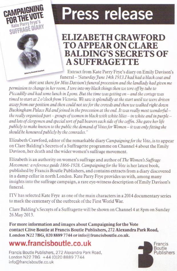 Balding press release