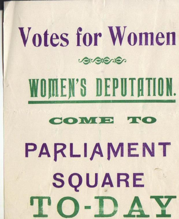Kate's invitation from the WSPU to attend the protest, Friday November 1910