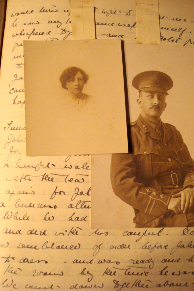 The 'Wedding Day'  page - 9 January 1915 -of Kate Frye's diary