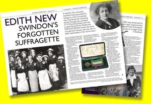 Feature on Edith New in Swindon Heritage magazine