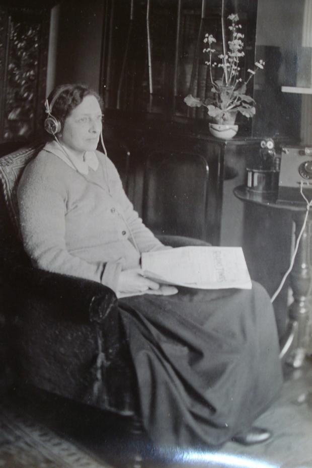 Kate as a radio listener - 1920s/