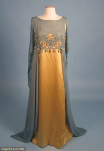Aesthetic gown, 1908-10, produced by Libertys at a time when Amy Kotze was working for them. Picture courtesy of Augusta Auctions