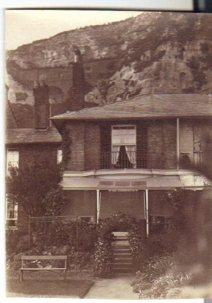 Mrs Wilson's house at 5 East Cliff, Dover, photographed by John Collins while he and Kate were out for their walk