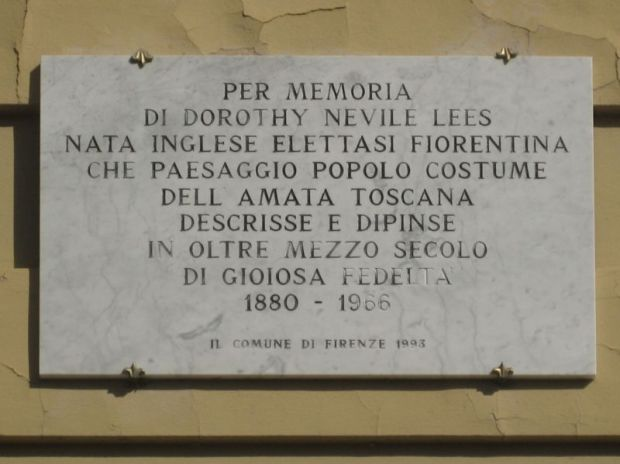 Plaque at Via Foscola, 32, in Florence
