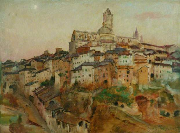 'The Town of Siena' by Annie Swynnerton, Manchester City Art Gallery Collection, photo courtesy of MCAG, BBC Your Paintings and the Public Catalogue Foundation