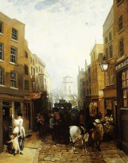 Buckingham Street, Strand, by John Edmund Niemann, 1854. From the Museum of London Collection, courtesy of the Public Catalogue foundation