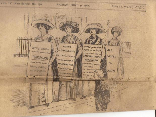 Front page of 9 June 1911 issue of 'Votes for Women'