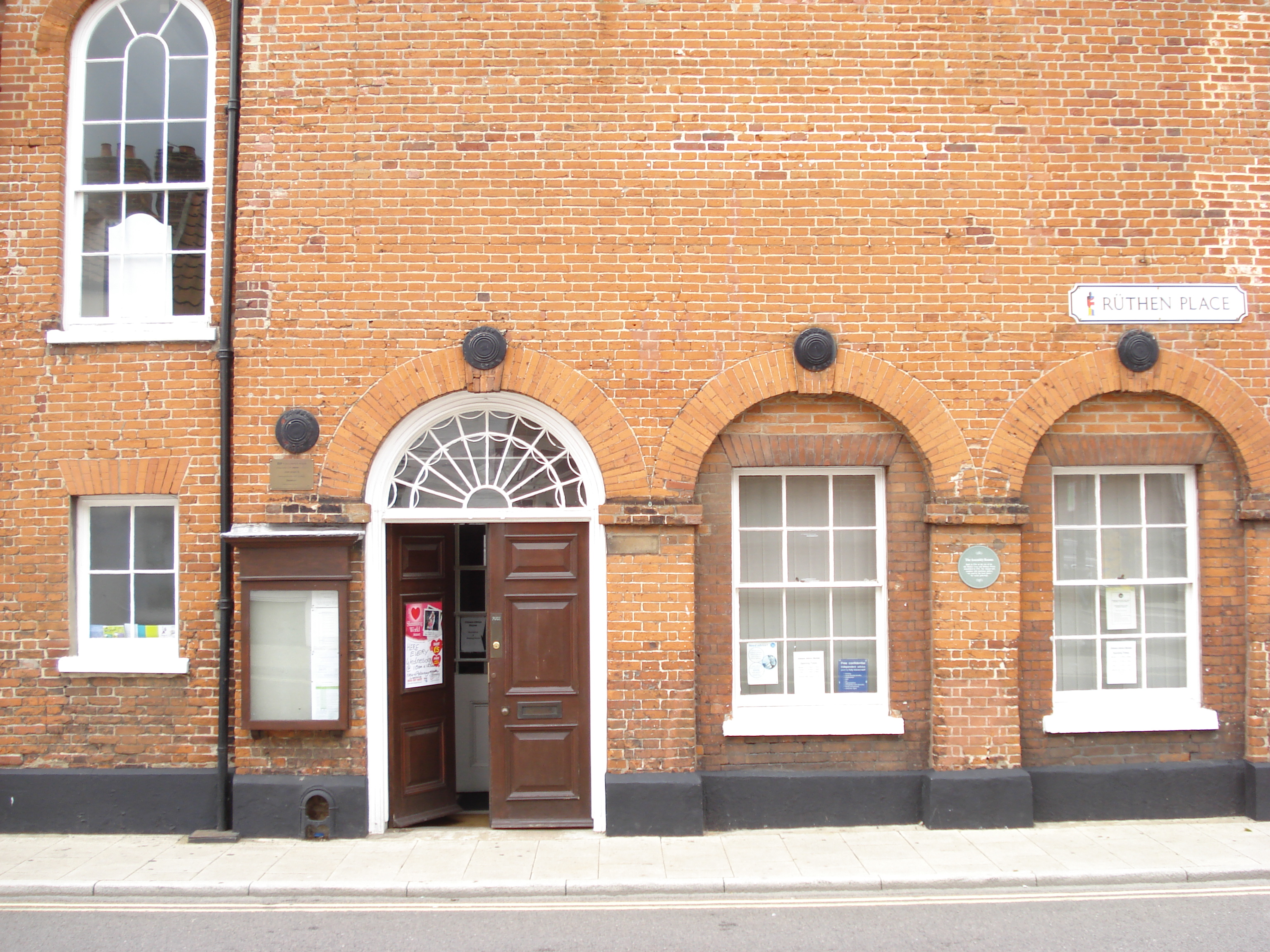 Entrance to the Assembly Rooms, Dereham