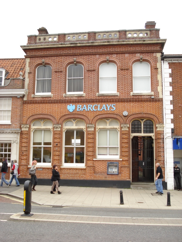 Formerly the Dereham branch of the London and Provincial Bank