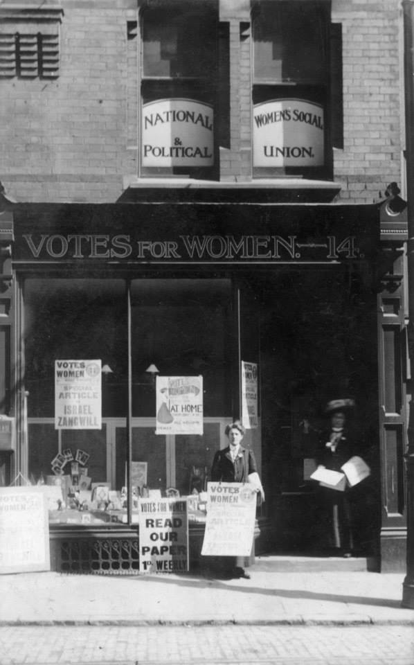 Leicester WSPU Shop (courtesy of alicesuffragette.co.uk)