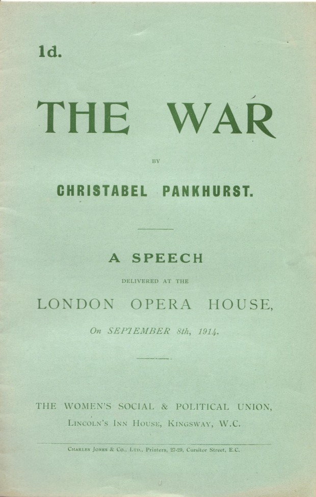 Pankhurst The War 001