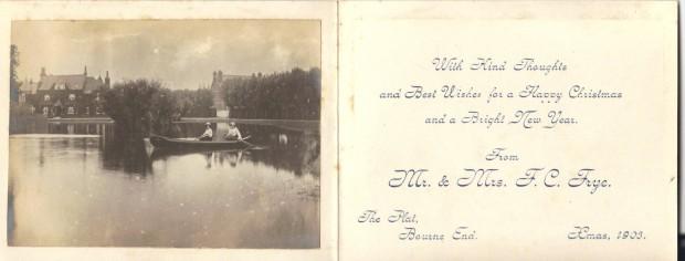 Frye xmas card 1903 inside 001