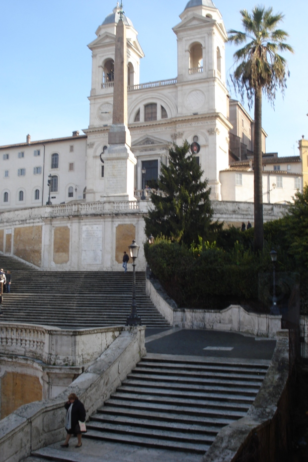 View up the Spanish Steps from the apartment