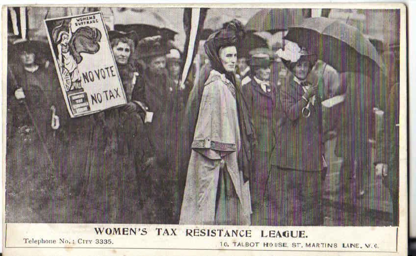 Clemence Housman resisted the Census as well as Tax. Her Census story is well told in 'Vanishing for the Vote'.