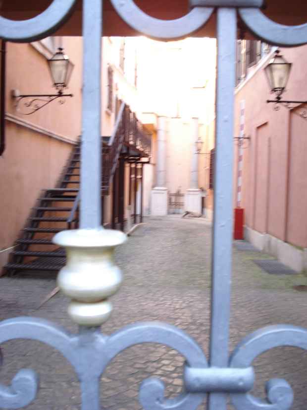View into a via Margutta courtyard