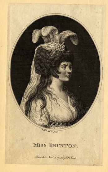 Ann Brunton (as Cordelia in 'King Lear', 1785)..This engraving by T. Cook and William Brent, courtesy of Women in Theatre Collection, Univeristy of Illinois Library