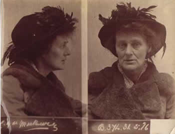Constance Markievicz, police photo on her arrest after the Easter Rising in Dublin in 1916.