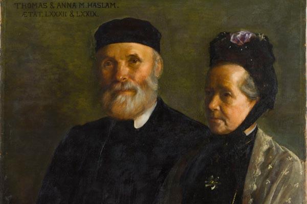 Thomas and Anna Maria Haslam, portrait by Sarah Cecilia Harrison, courtesy of the Hugh Lane Gallery, Dublin