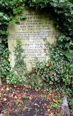 Edward Truelove's grave in Highgate Cemetery. Photo courtesy Dr Tony Shaw