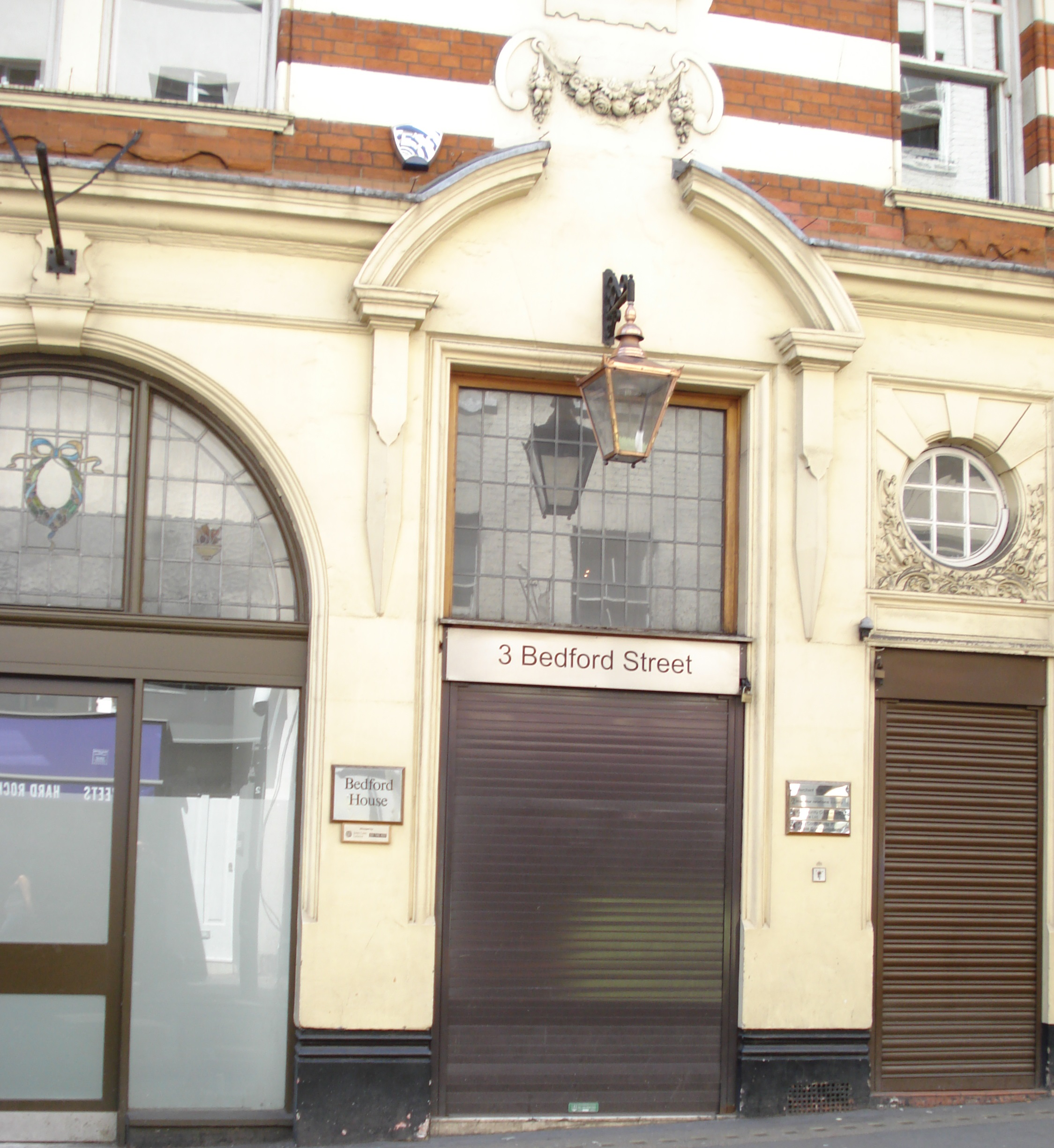 3 Bedford Street, Covent Garden