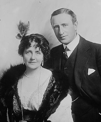 Eva Moore with her husband, H.V. Esmond