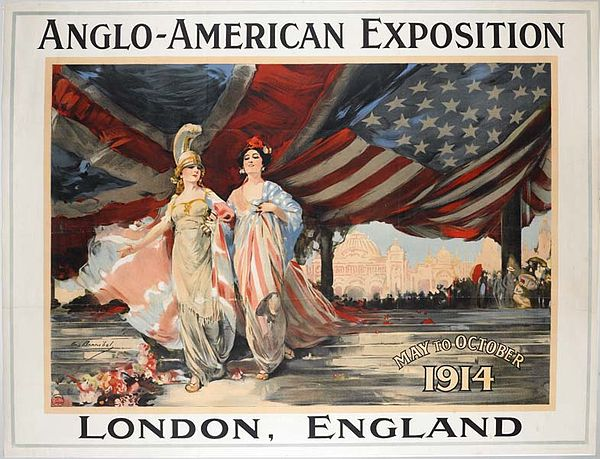 Poster for the Anglo-American Exhibition, 1914
