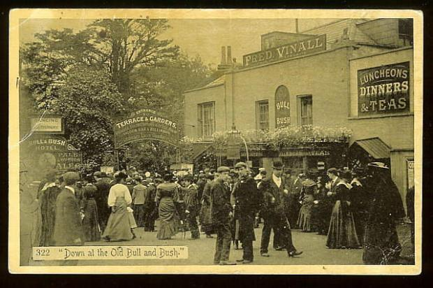 The Old Bull and Bush (Image courtesy of pubshistory.com website)