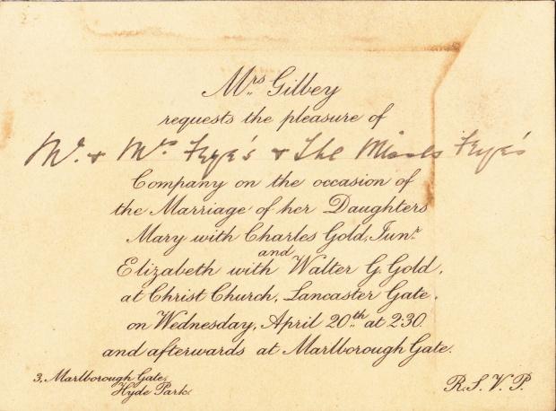 Gilbey - Gold wedding