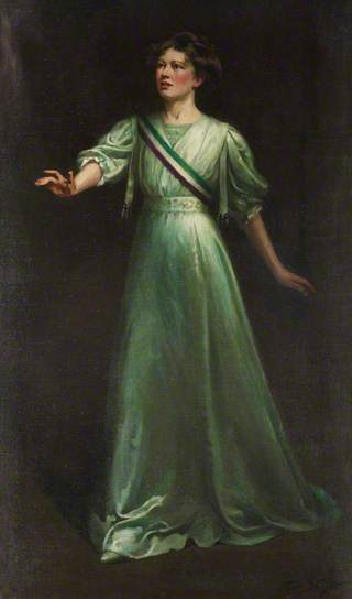 Christabel Pankhurst by Ethel Wright, 1909 (c) National Portrait Gallery, London; Supplied by The Public Catalogue Foundation