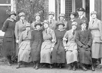Members of the WRNS and WRAF at Warsash Air Station 1918 (courtesy of RAF Museum website)