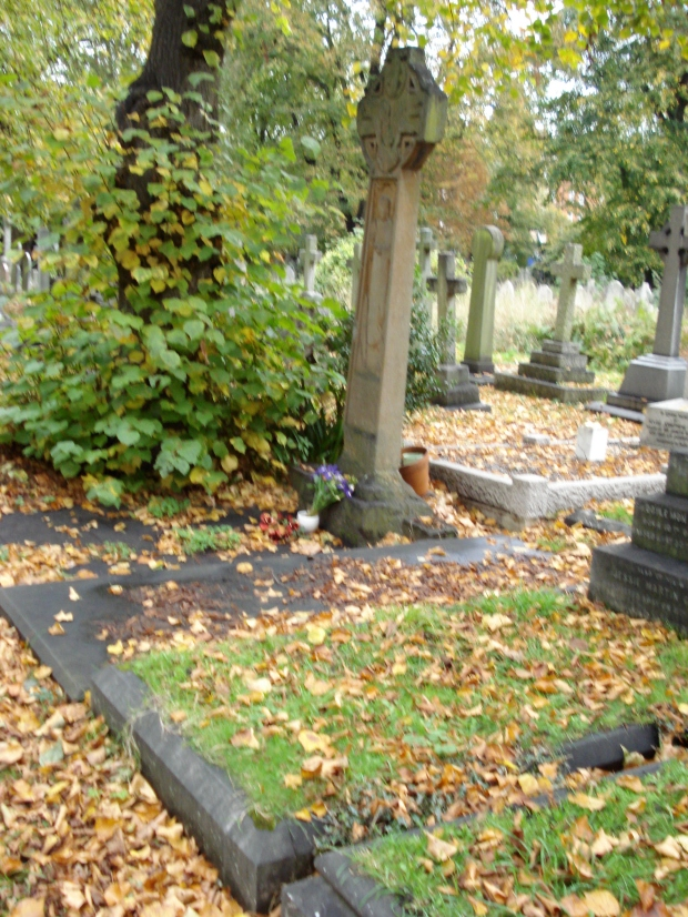 Brompton Cemetery - with Mrs Pankhurst's headstone