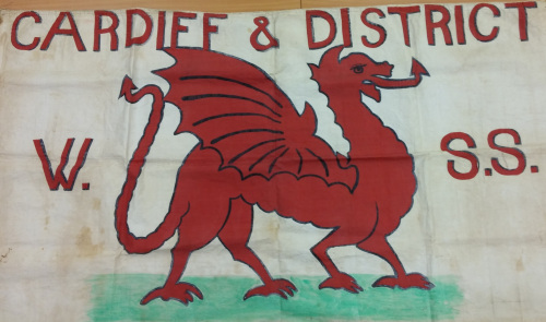 The Cardiff banner (courtesy of Cardiff University Special Collections and Archives).