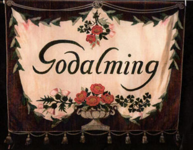 Godalming Women's Suffrage banner (image courtesy of Godalming Museum)