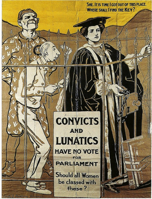 This poster - focussing on the plight of the unenfranchised woman graduate - should appeal to at least 50% of LSE students. For my post on the artist see here