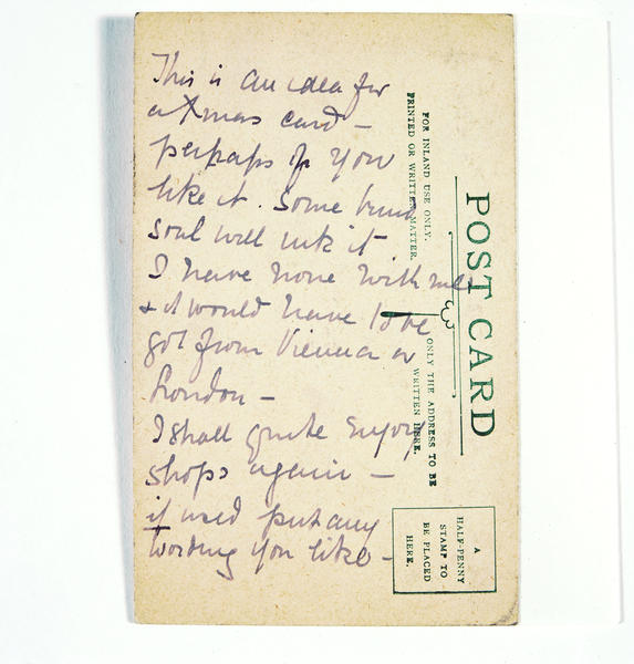 Emily Harding Andrews' comments on the reverse of her draft design (Image courtesy of VADS)