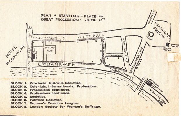 Instructions NUWSS procession June 1908 Back