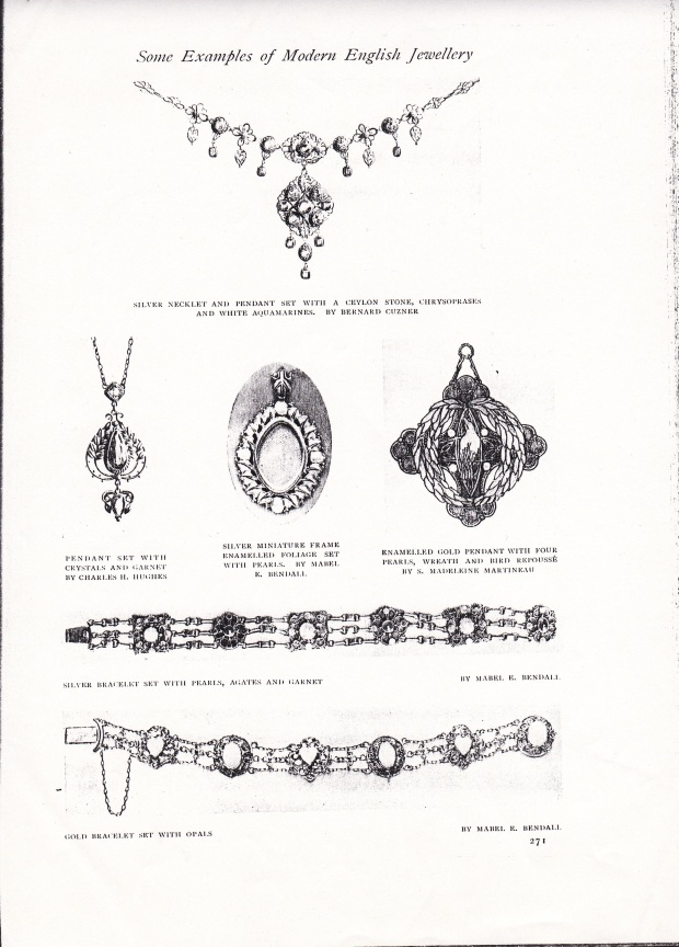 Lena's pendant - second row far right - illustrated in 'The Studio', 1914