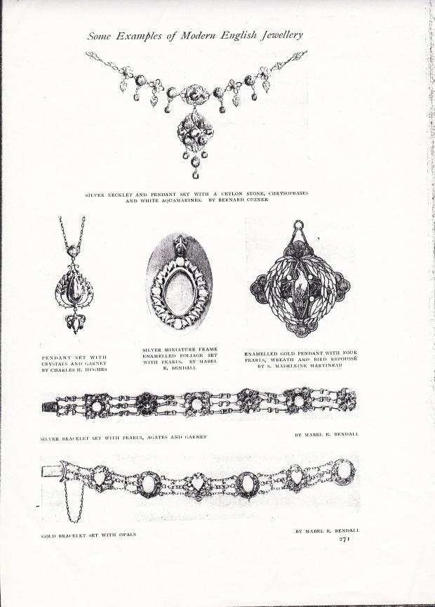 Lena's pendant - second row far right - illustrated in 'The Studio', 1914