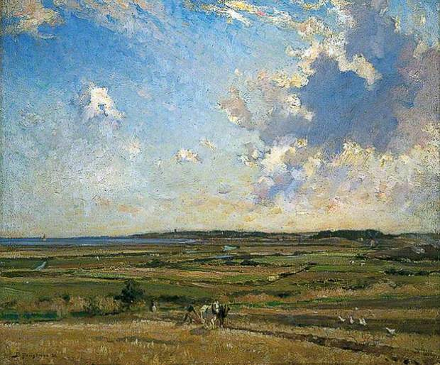 'Walberswick Marshes' by Bertram Priestman (courtesy of BBC - Your Paintings)